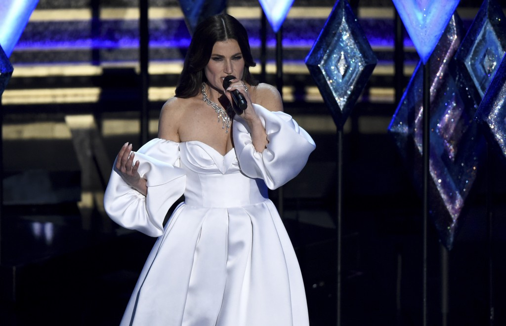 Idina Menzel performs at the Oscars on Sunday, Feb. 9, 2020, at the Dolby Theatre in Los Angeles. (AP Photo/Chris Pizzello)