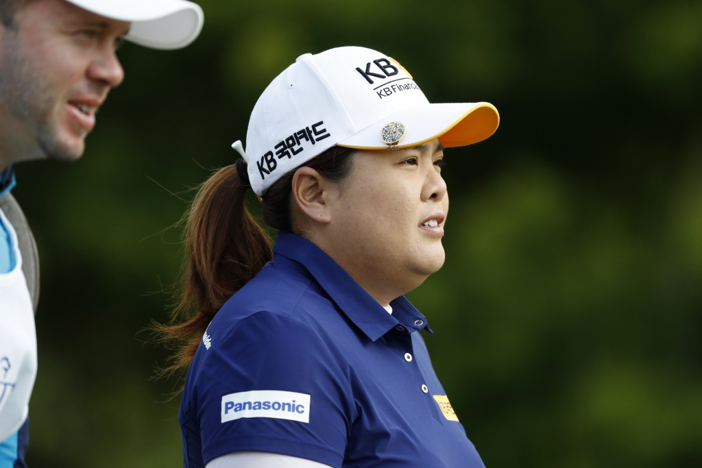 FILE - In this Thursday, June 20, 2019, file photo, Korea's Inbee Park walks off the 10th tee during the first round of the KPMG Women's PGA Champions...