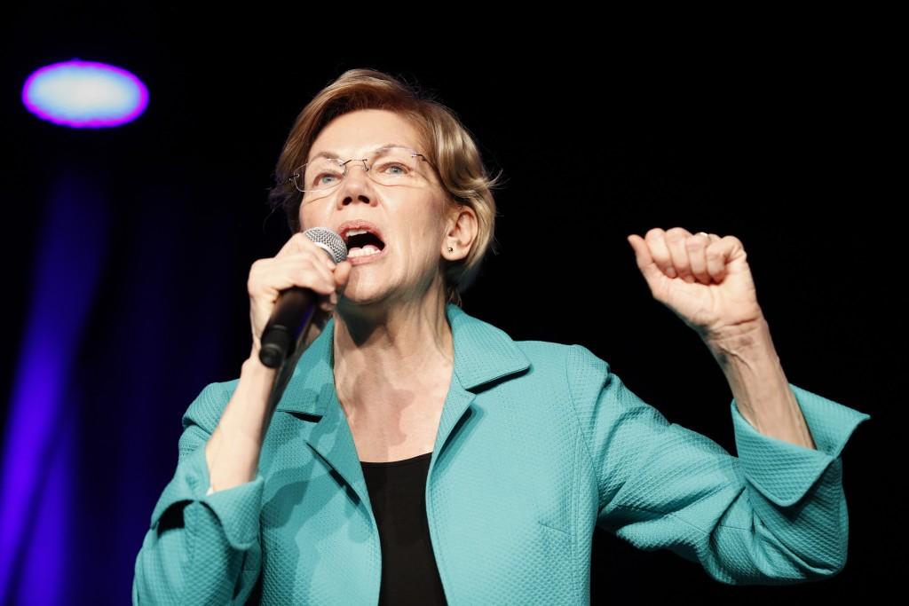 "Democratic presidential candidate Sen. Elizabeth Warren, D-Mass., speaks at the Clark County Democratic Party ""Kick-Off to Caucus 2020"" event, Saturda..."