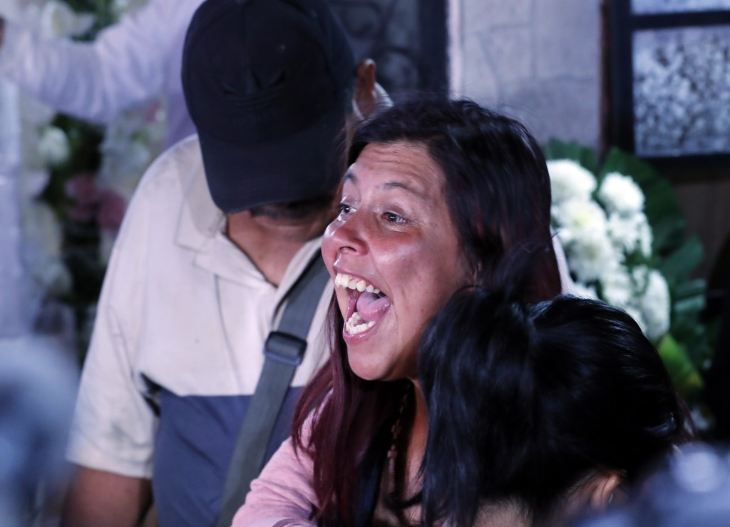 Maria Magdalena Anton, mother of Fatima, a 7-year-old girl who was abducted from the entrance of the Enrique C. Rebsamen primary school and later kill...