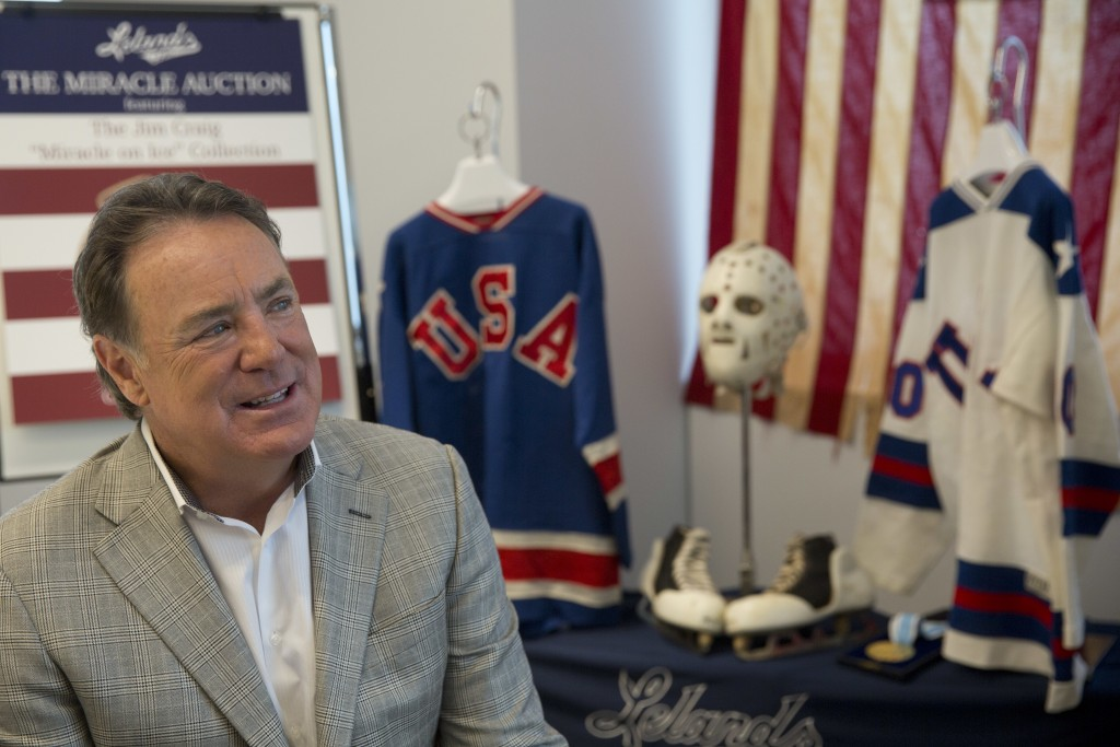 FILE - In this May 24, 2016, file photo, Jim Craig, the hockey goalie who helped the U.S. win a miraculous gold medal at the 1980 Winter Olympics, is ...