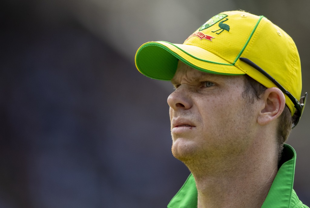 Australia's Steven Smith looks on during the 2nd T20 cricket match between South Africa and Australia at St George's Park in Port Elizabeth, South Afr...