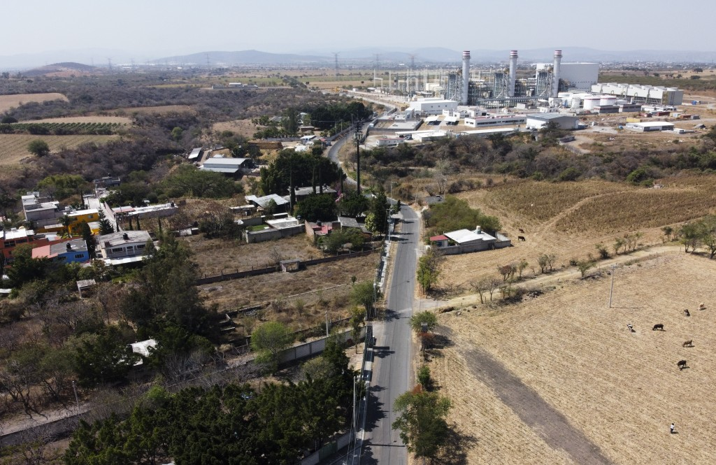 A newly built power generation plant stands idle near Huexca, Morelos state, Mexico, Saturday, Feb. 22, 2020. The power plant is at the heart of a yea...