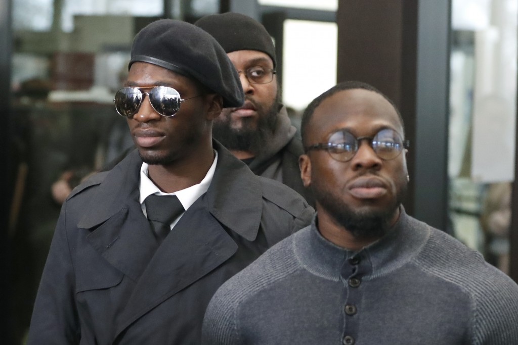 CORRECTS IDS OF BROTHERS - Brothers Olabinjo Osundairo, right, and Abimbola Osundairo, who claim actor Jussie Smollett hired them to stage an attack o...