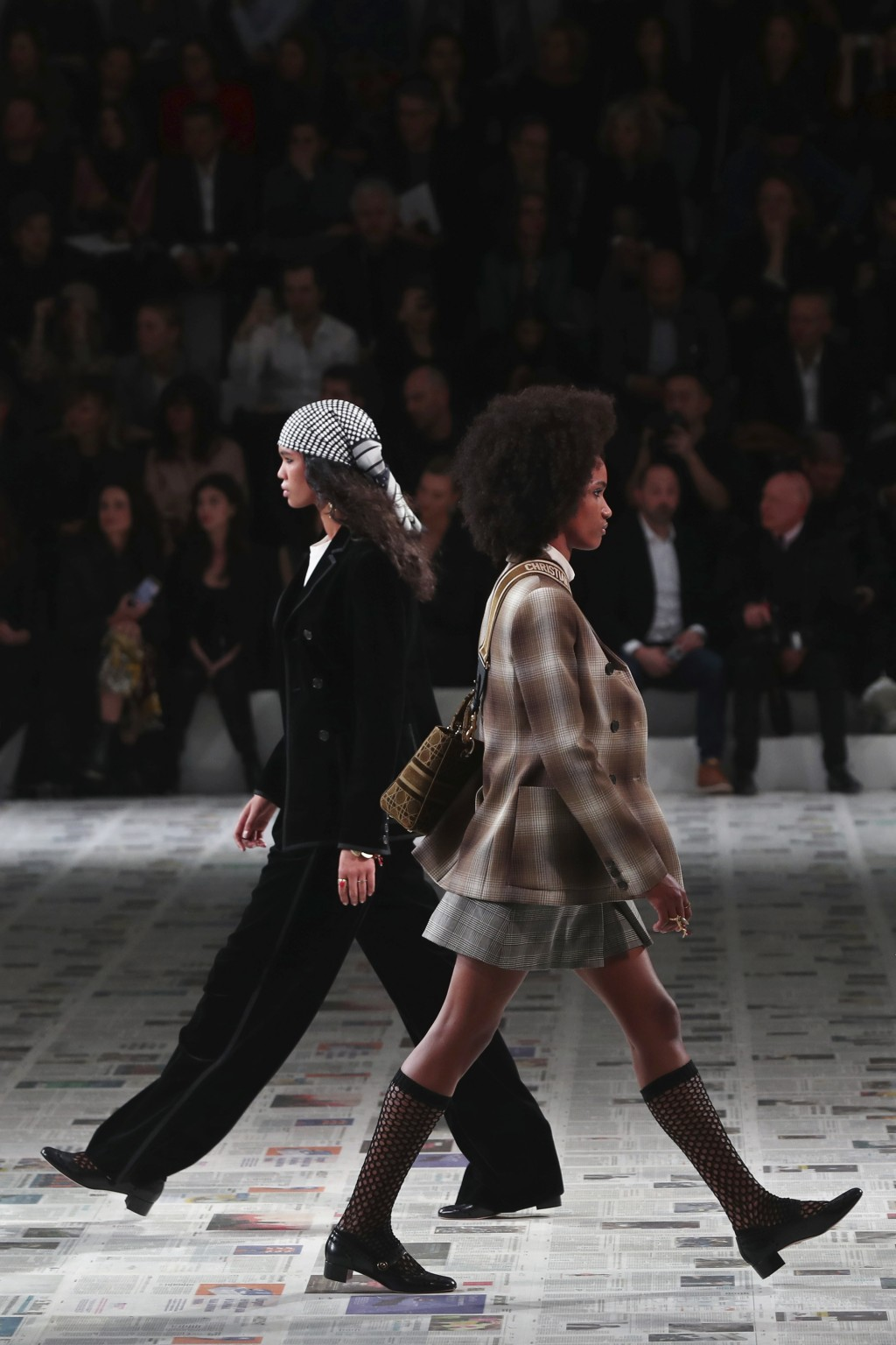 Models wear creations for the Dior fashion collection during Women's fashion week Fall/Winter 2020/21 presented in Paris, Tuesday, Feb. 25, 2020. (AP ...