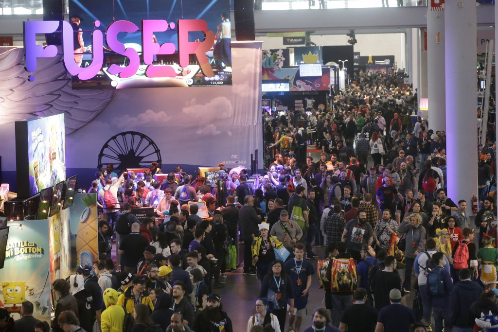 Gaming enthusiasts attend the Pax East conference, Thursday, Feb. 27, 2020, in Boston. Thousands of gaming enthusiasts attended the Pax East conferenc...