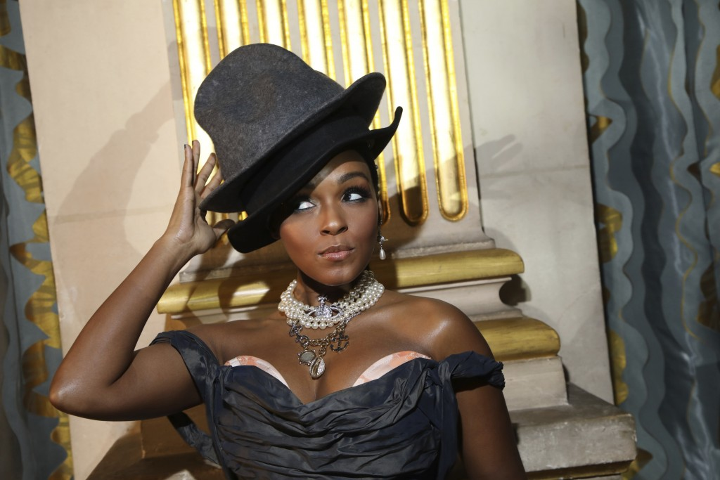 Actress and singer Janelle Monae attends the Vivienne Westwood fashion collection during Women's fashion week Fall/Winter 2020/21 presented in Paris, ...