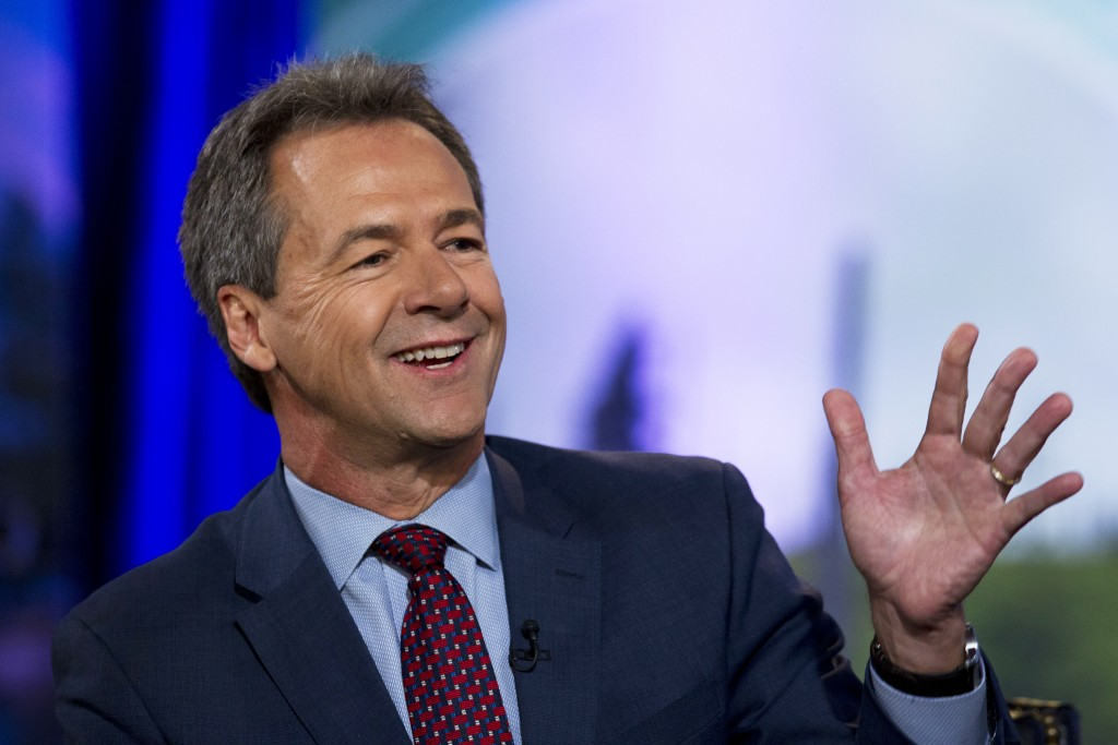 FILE - In this Sept. 20, 2019, file photo, Democratic presidential candidate Montana Gov. Steve Bullock speaks during the Climate Forum at Georgetown ...