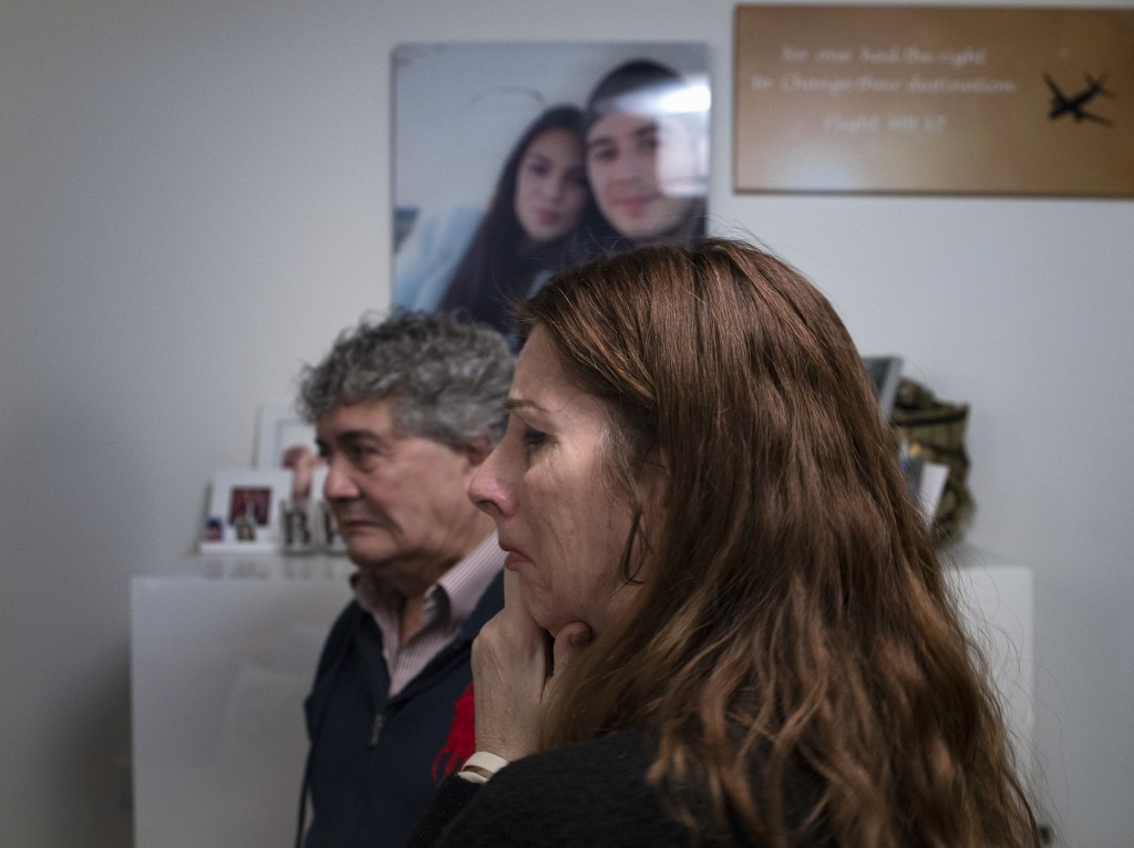 Pictures and mementos of their son Bryce and his girlfriend Daisy, rear, still adorn the walls of the house of Silene and Rob Fredriksz in Rotterdam, ...
