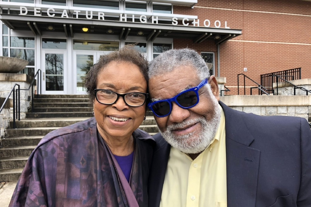 "In this Feb. 13, 2020 photo, Roslyn Pope, who wrote ""An Appeal for Human Rights"" as a Spelman College student in March 1960, and Charles Black, who co..."