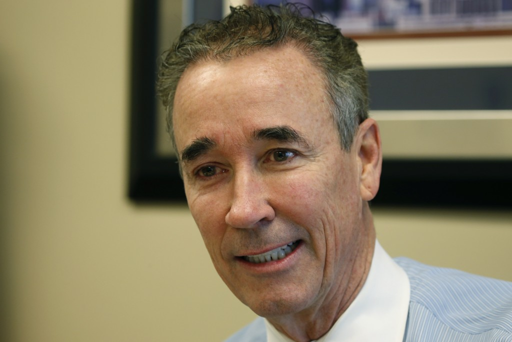 In this Thursday, March 5, 2020 photo, Virginia State Sen. Joe Morrissey, D-Richmond, speaks during an interview in his office at the Capitol in Richm...