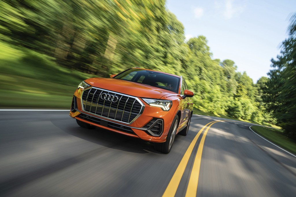 This photo provided by Audi shows the Audi Q3, a small luxury crossover. (Courtesy of Audi AG via AP)