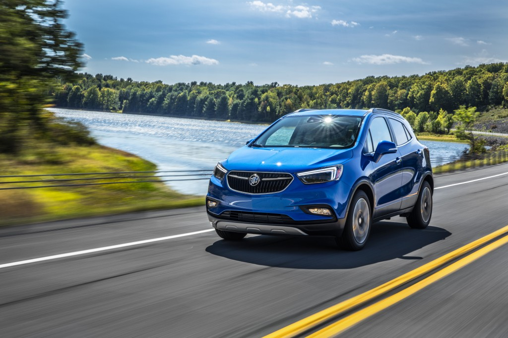 This photo provided by General Motors shows the Buick Encore, a subcompact crossover. (Courtesy of General Motors via AP)