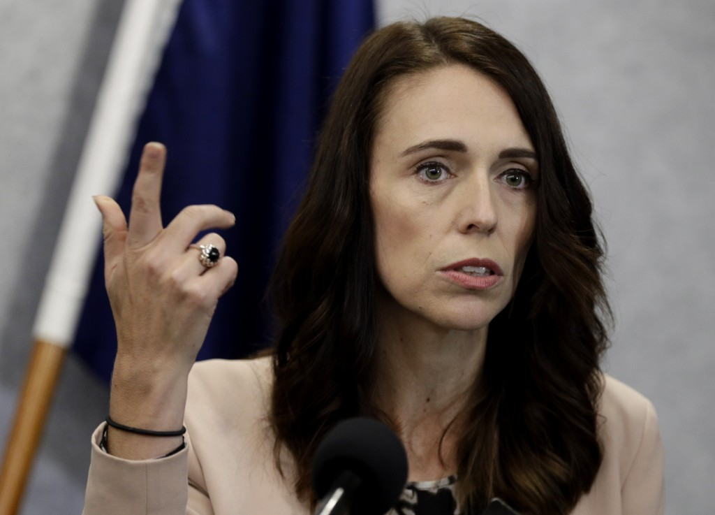 New Zealand Prime Minister Jacinda Ardern addresses a press conference in Christchurch, New Zealand, Friday, March 13, 2020. Events to mark the death ...