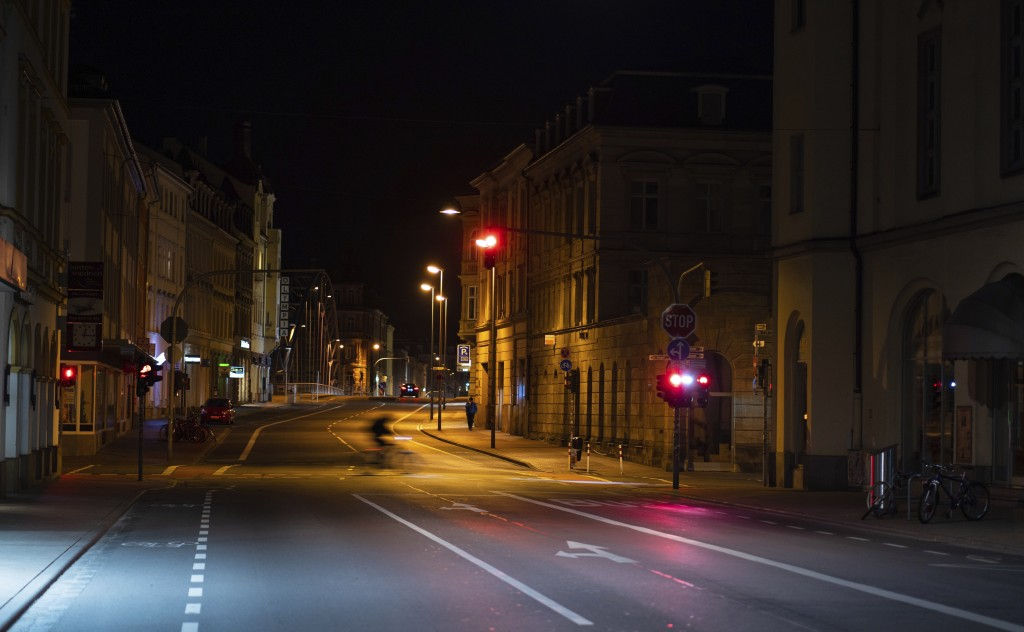 Luitpold Street in Bamberg, Germany,  is seen shortly after the initial restriction imposed due to the spread of the coronavirus came into force, earl...