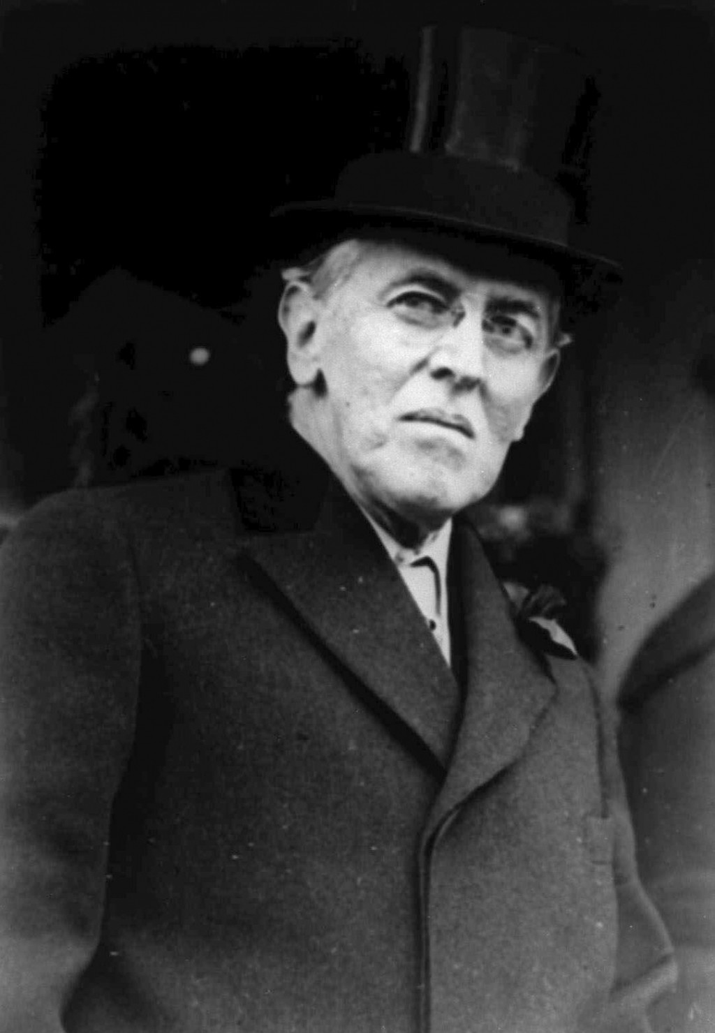 FILE - This 1924 file photo shows Woodrow Wilson. Wilson was more focused on the end of World War I than a flu virus that was making its way around th...