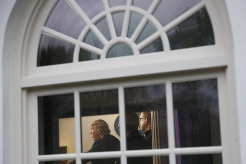 President Donald Trump speaks during a coronavirus task force briefing at the White House, Sunday, March 22, 2020, in Washington. (AP Photo/Patrick Se...