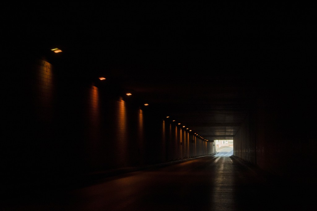 Saeb Salam tunnel is almost empty as authorities urge people to stay home unless they have an emergency in an effort to prevent the spread of coronavi...