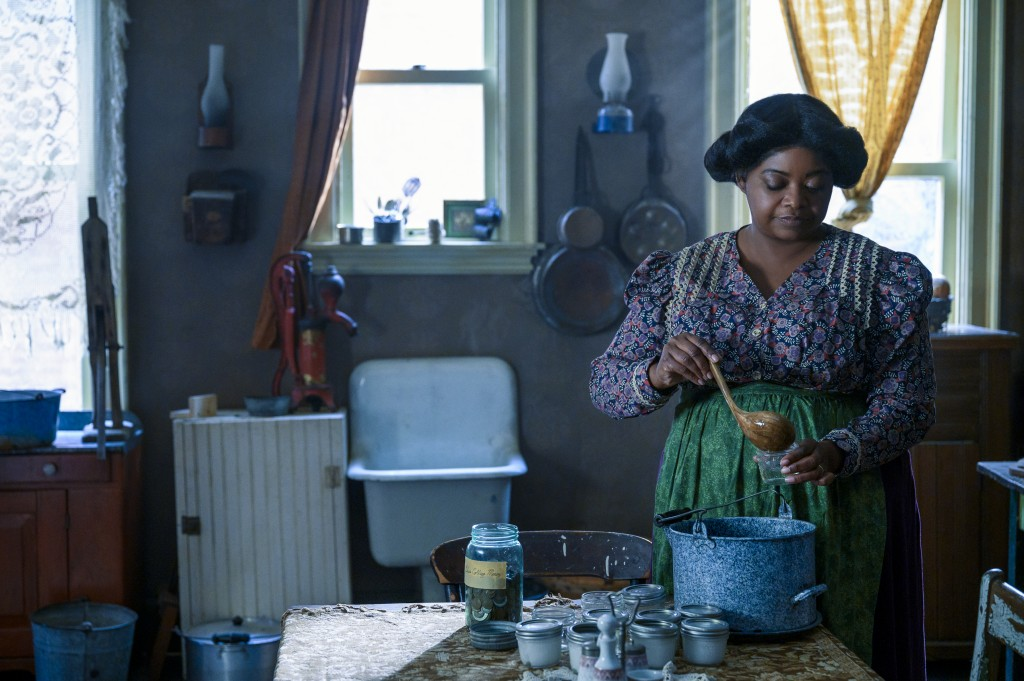 """This image released by Netflix shows Octavia Spencer in a scene from """"Self Made: Inspired by the Life of Madam C.J. Walker."""" (Amanda Matlovich/Netflix..."""