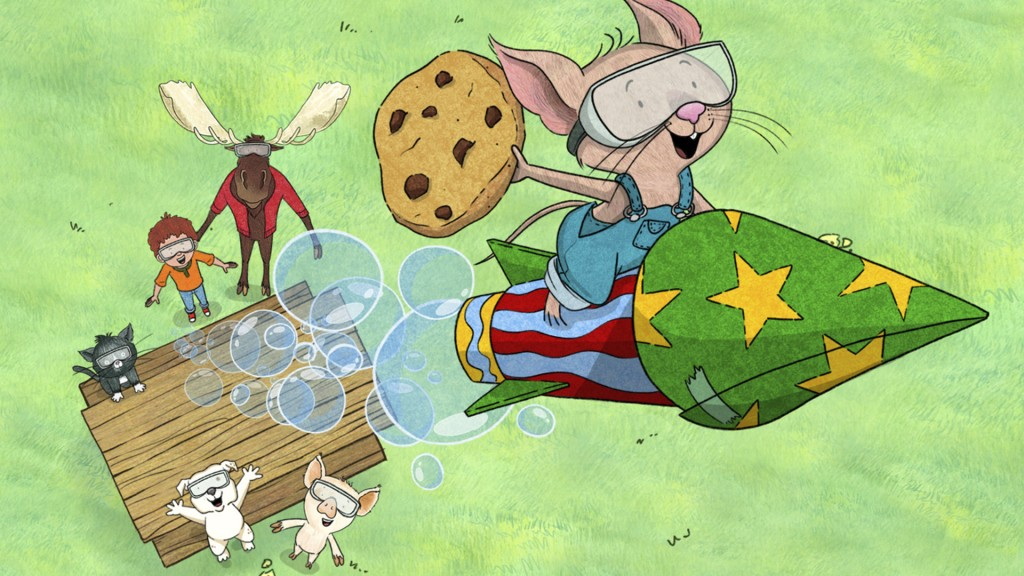 """This image released by Amazon shows a scene from the animated children's series """"If You Give a Mouse a Cookie.""""  Amazon is giving parents free streami..."""