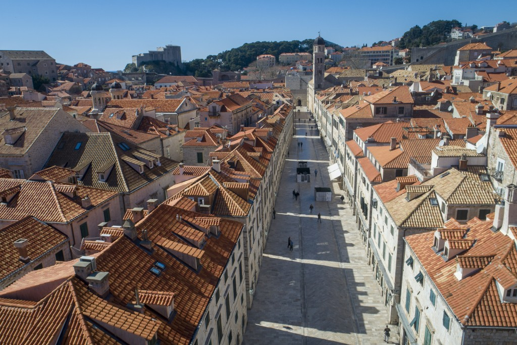 This Tuesday, March 17, 2020 aerial photo shows the old town of Dubrovnik, Croatia. Just outside the majestic walls of Croatia's medieval citadel city...