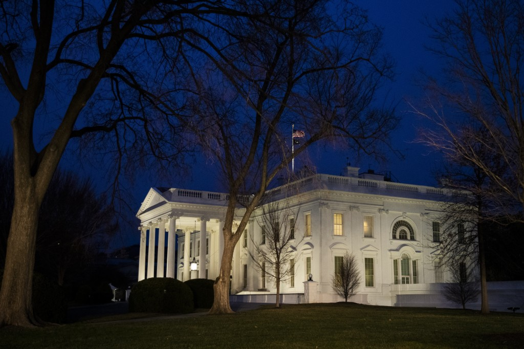 FILE - In this Feb. 5, 2020, file photo the White House is seen in Washington. The coronavirus pandemic and the nation's crashing economy are scrambli...