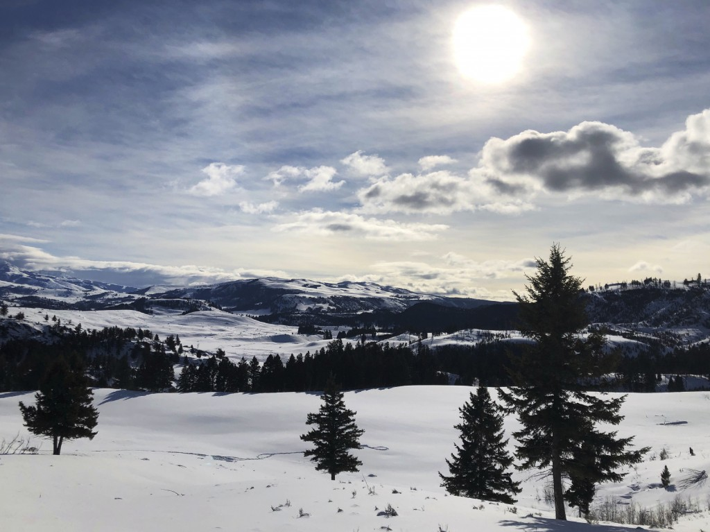 This Feb. 17, 2020 photo shows Yellowstone National Park's Lamar Valley near Mammoth, Wyo. On Tuesday, March 24, 2020 the National Park Service announ...