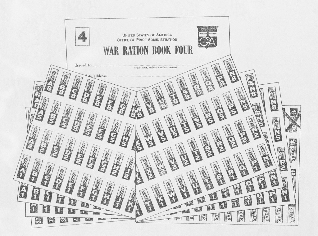 FILE - This Sept. 17, 1943, file image shows the war ration book four, issued by the office of price administration. Not since World War II when peopl...