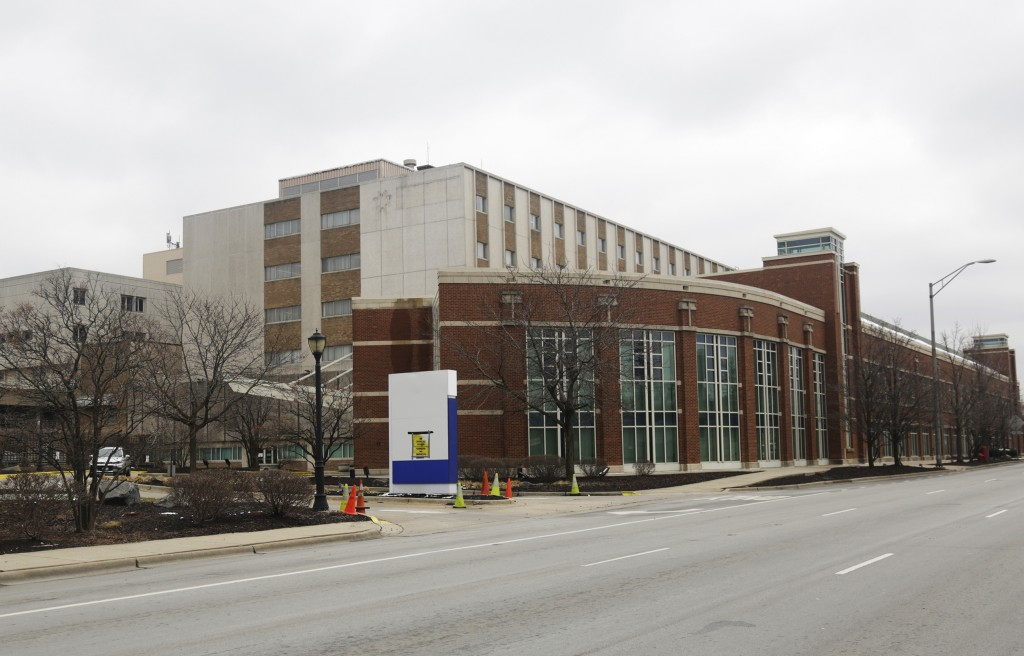 This March 23, 2020 photo shows the former MetroSouth Medical Center in Blue Island, Ill. U.S. hospitals are rushing to find beds for a coming flood o...