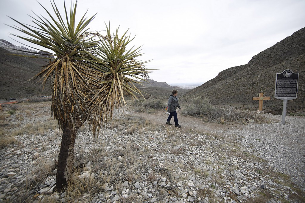 In this Wednesday, March 4, 2020, photograph, a hiker sets off on a trail through Franklin Mountains State Park near El Paso, Texas. With the spread o...