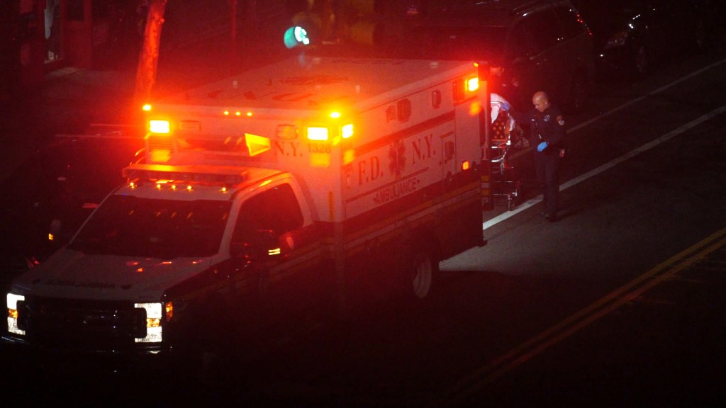 In this Thursday, April 2, 2020, image made from video, a person is taken into an ambulance in the Brooklyn borough of New York. The sounds of sirens ...