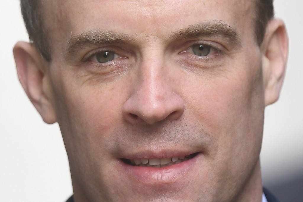 Britain's Foreign Secretary Dominic Raab, who is taking charge of the Government's response to the coronavirus crisis after Prime Minister Boris Johns...
