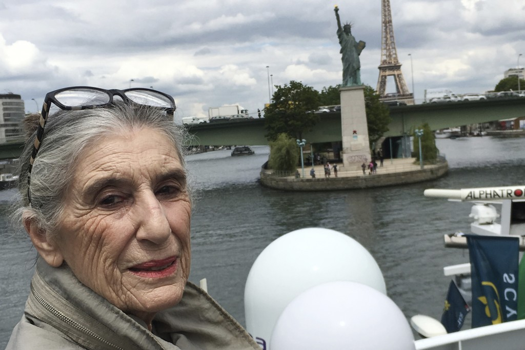 This 2019 photo provided by Olga Weiss shows her in France. For Weiss, the order to stay at home is about much more than simply locking her door to th...