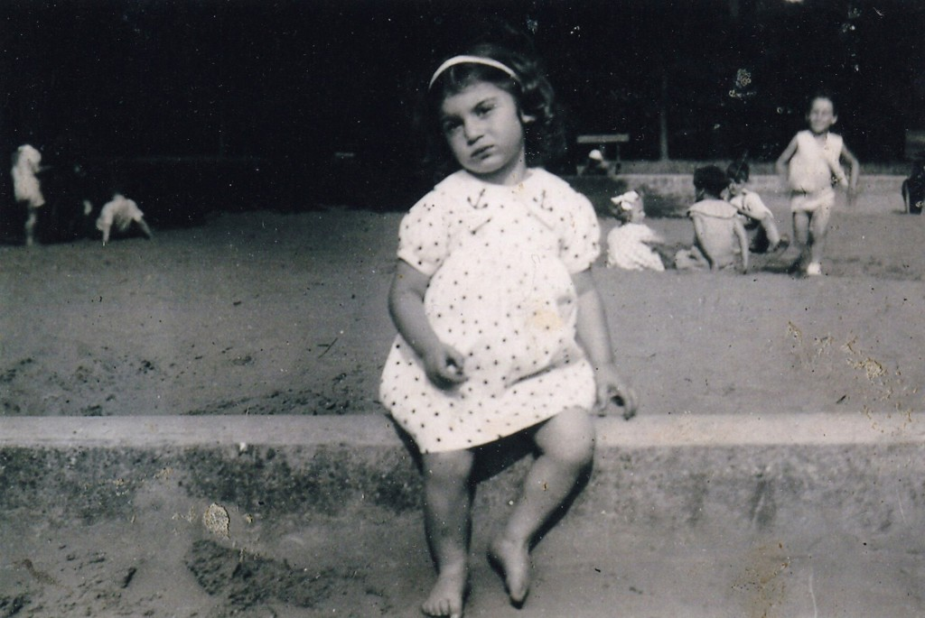This 1939 photo provided by Olga Weiss, shows her at about 3 years old. For Weiss, the order to stay at home is about much more than simply locking he...