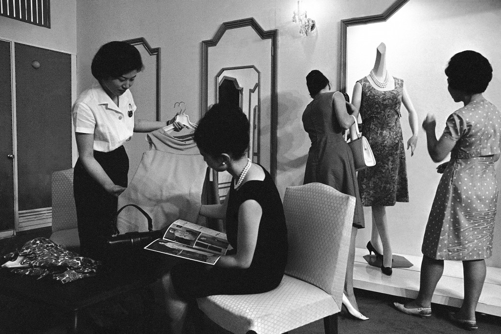 FILE - In this July 28, 1964, file photo, a favorite with foreign shoppers in Tokyo is Isetan, most fashion-conscious store in Ginza's shopping distri...