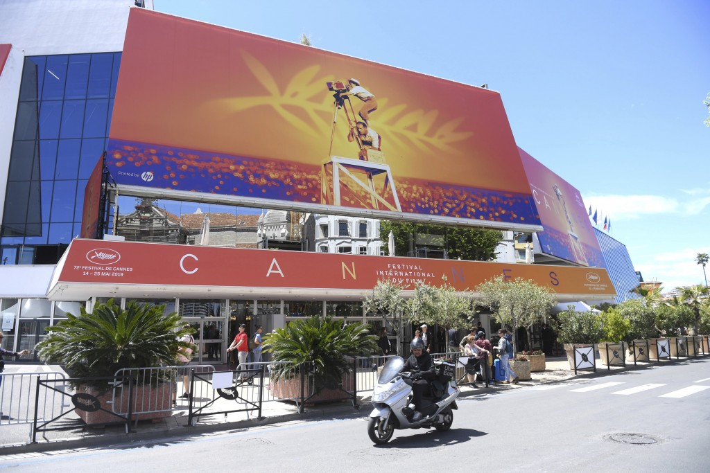 FILE - This May 13, 2019 file photo shows a view of the Palais des festivals during the 72nd international film festival, Cannes, southern France. The...