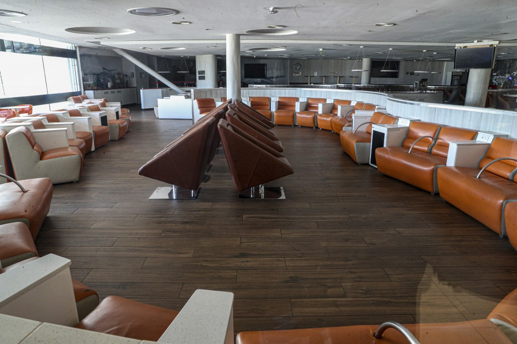 A VIP room sits empty at the Arturo Merino Benitez International Airport in Santiago, Chile, Monday, April 20, 2020. International flights have been c...