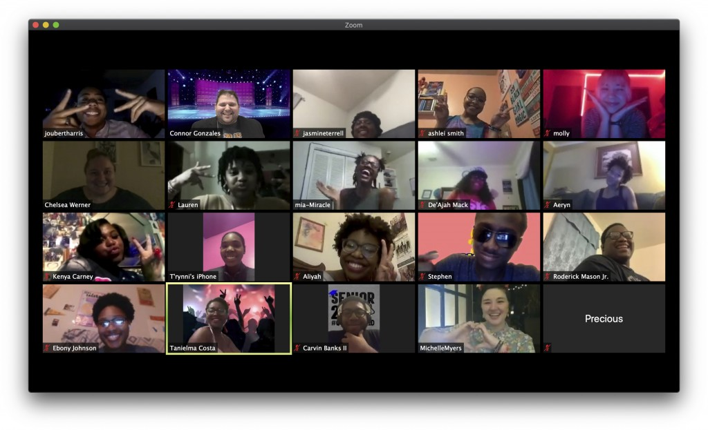 This photo shows high school seniors who attended a virtual prom via Zoom on April 16 hosted by the Baton Rouge Youth Coalition. With the Class of 202...
