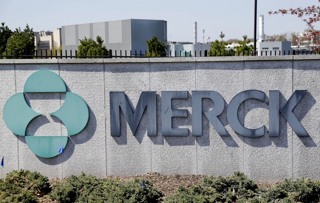 FILE- This May 1, 2018, file photo shows Merck corporate headquarters in Kenilworth, N.J.  The pandemic increased sales of Merck medicines during the ...