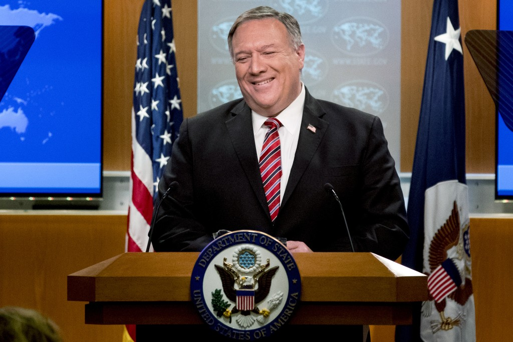 Secretary of State Mike Pompeo. (AP Photo/Andrew Harnik, Pool)