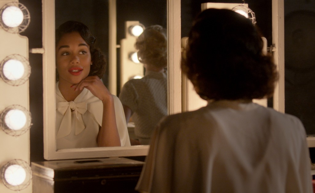 """This image released by Netflix shows Laura Harrier in a scene from """"Hollywood"""" premiering May 1 on Netflix. (Netflix via AP)"""