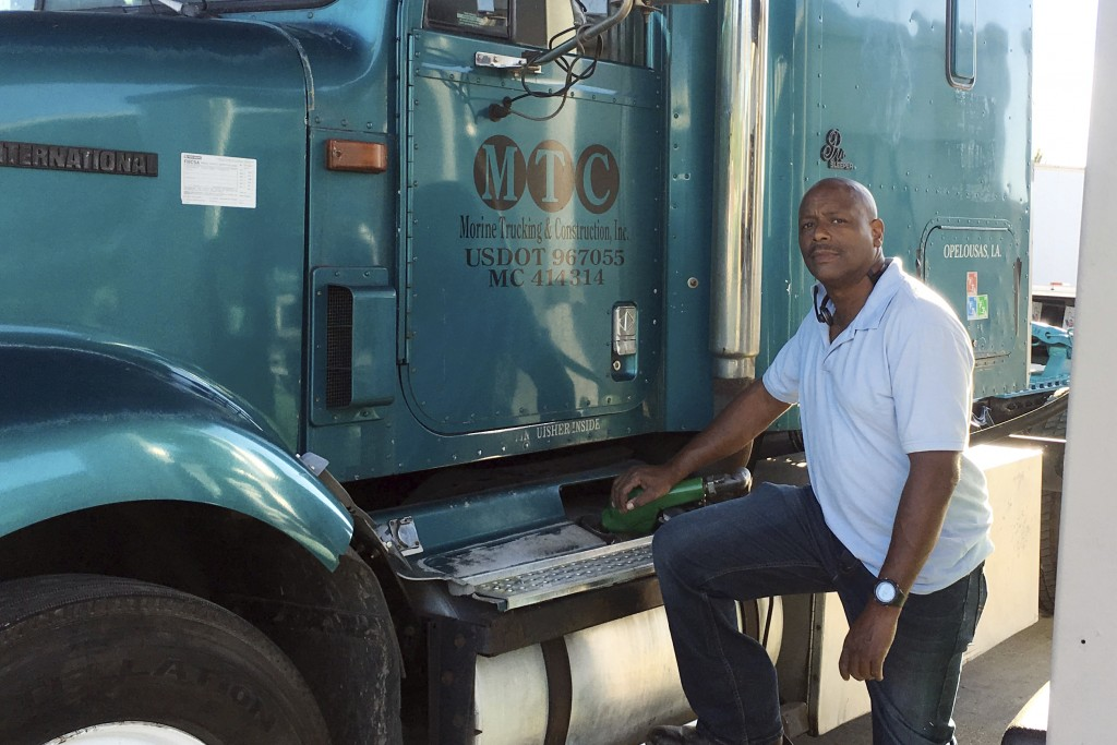 This April 29, 2020 photo provided by Rodney Morine, shows Morine preparing to make a delivery in Opelousas, La. Morine believes his second chance is ...