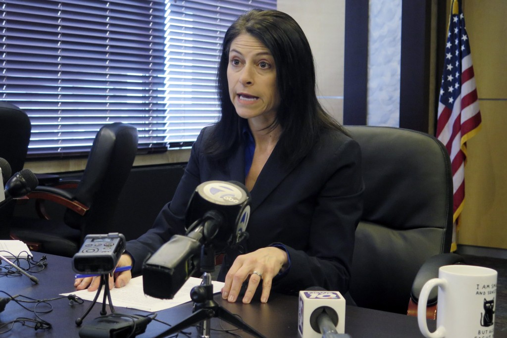 FILE - In this March 5, 2020 file photo, Michigan Attorney General Dana Nessel addresses the media during a news conference, in Lansing, Mich. Nessel ...