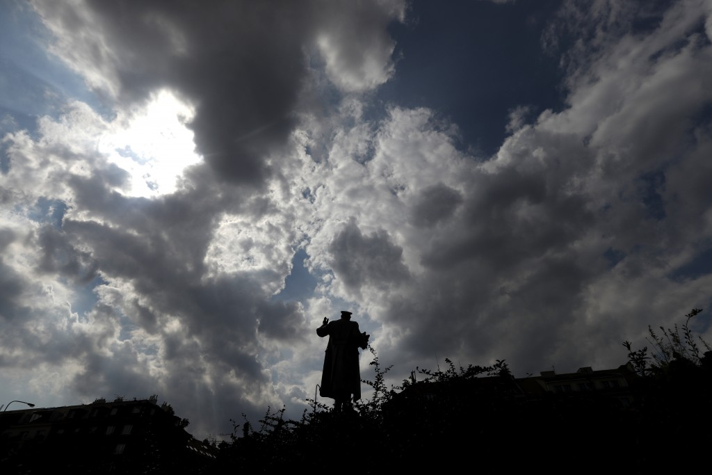 FILE  - In this file photo taken on Tuesday, Aug. 21, 2018, the monument of Soviet World War II commander Ivan Stepanovic Konev is pictured in Prague,...