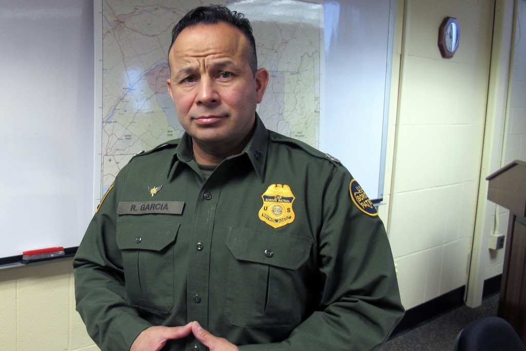 In this Monday Feb. 10, 2020, PHOTO, Robert Garcia, the chief of the U.S. Border Patrol's Swanton sector, poses at sector headquarters in Swanton, Vt....