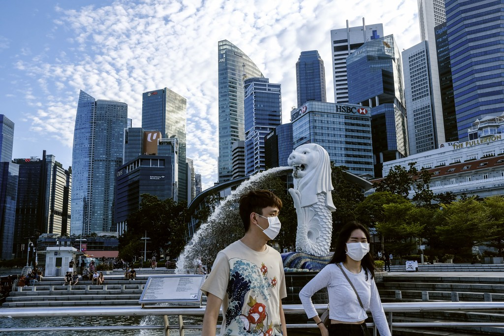 Singapore is attracting international fundspartly because of unrest in Hong Kong.