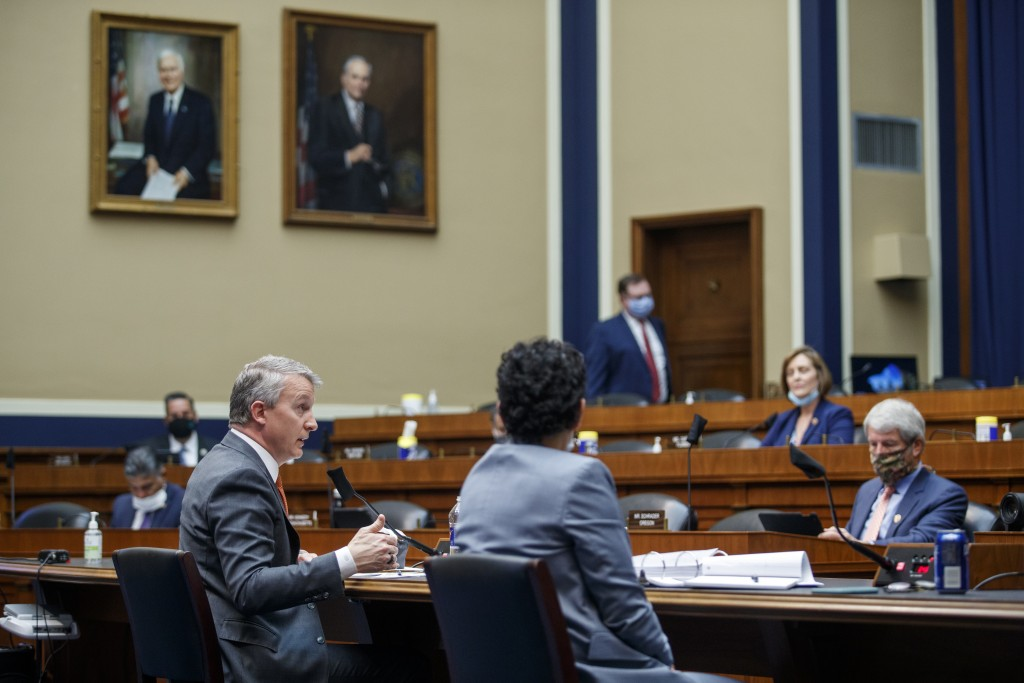 Rick Bright, former director of the Biomedical Advanced Research and Development Authority, testifies before a House Energy and Commerce Subcommittee ...