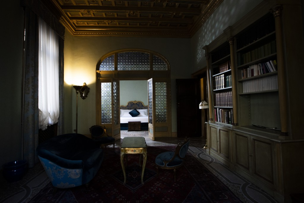 This Monday, May 11, 2020 photo shows a suite of the art-deco style Locarno Hotel, in Rome, Monday, May 11, 2020. (AP Photo/Alessandra Tarantino)
