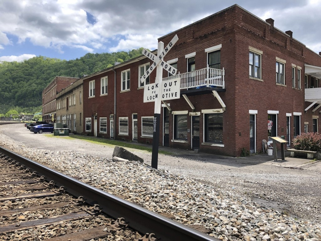 In this Tuesday, May 12, 2020, is a former corner post office in Matewan, W.Va. On May 19, 1920, coal miners, led by a local police chief, and detecti...