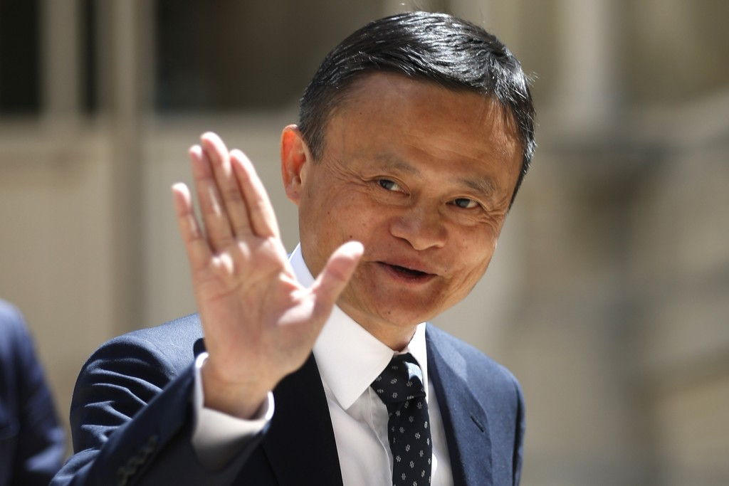 FILE - In this May 15, 2019, file photo, founder of Alibaba group Jack Ma arrives for the Tech for Good summit in Paris. Chinese billionaire Jack Ma i...